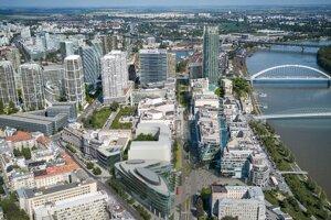 Vizualizácia budúcej podoby okolia Dunaja.