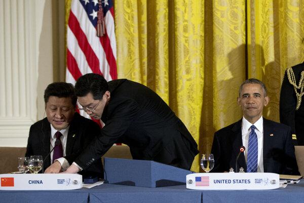 Obama a čínsky prezident Si Ťin-pching.
