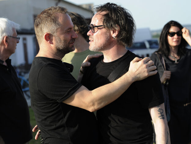 Organizátor festivalu Michal Kaščák a herec Robert Roth.