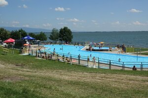 Bazén v stredisku Klokočov.