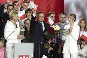 Víťaz volieb Andrzej Duda.