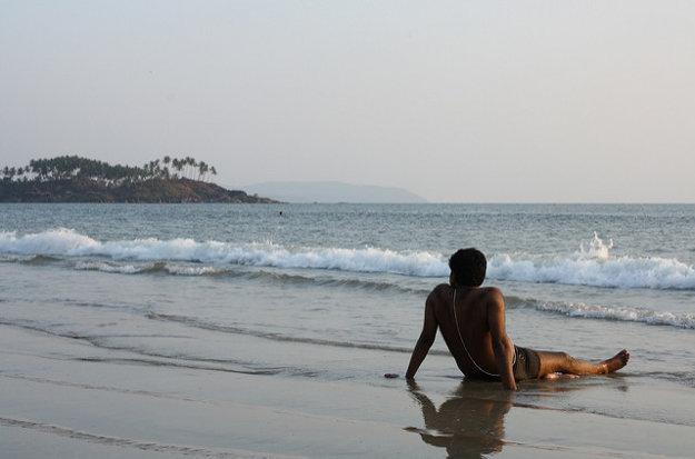 Odpočinok na pláži Palolem.