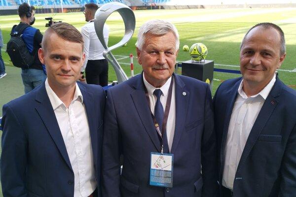 Spišiaci vo finále pohára, zľava Peter Bednár, Jaroslav Švarc a Radoslav Bobko.