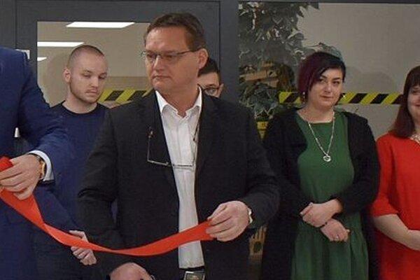 Róbert Jankovský pri slávnostnom otváraní novej budovy Okresného súdu v Považskej Bystrici.