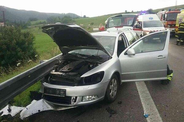 Dopravná nehoda pri Brusne.