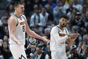 Nikola Jokič a Jamal Murray z klubu NBA Denver Nugget - ilustračná fotografia.