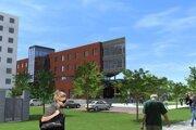 Vizualizácia budovy, ktorú župa nepostaví, hoci investovala do projektovej dokumentácie.