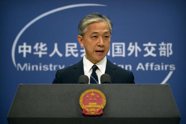 Hovorca čínskeho ministerstva zahraničných vecí Wang Wen-pin.