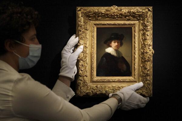 Autoportrét holandského maliara Rembrandta van Rijna.