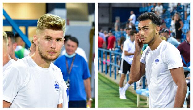 Alen Mustafič (vľavo)začínal gólovú akciu Nitry a Armen Hovhannisjan ju zavŕšil. Prvý už má miesto pod Zoborom isté, druhý oficiálne ešte nie.