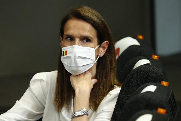 Sophie Wilmesová, belgická premiérka.