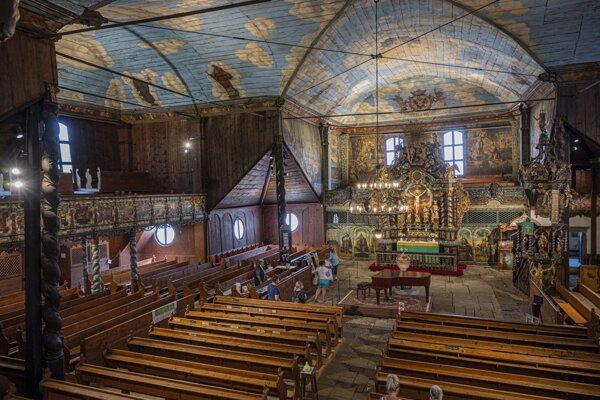 Drevený kostol v Kežmarku.