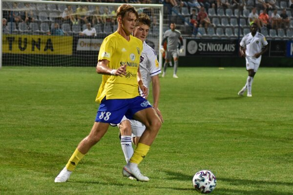 Mladučký Adam Griger odohral proti trnavskému Spartaku vyše dvadsať minút.