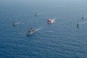 Tureckú prieskumnú loď doprevádzajú vojenské plavidlá.