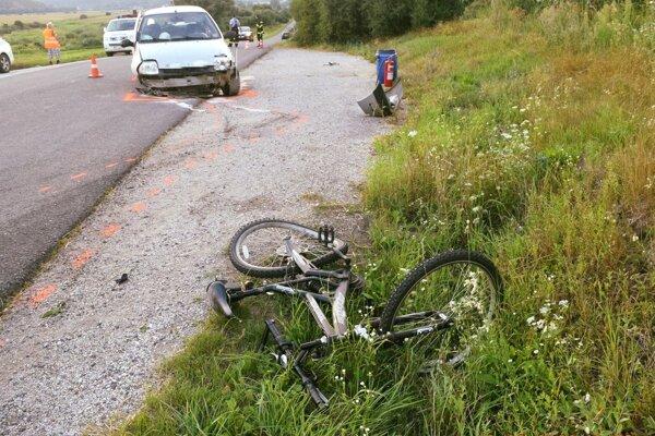 Na mieste dopravnej nehody.