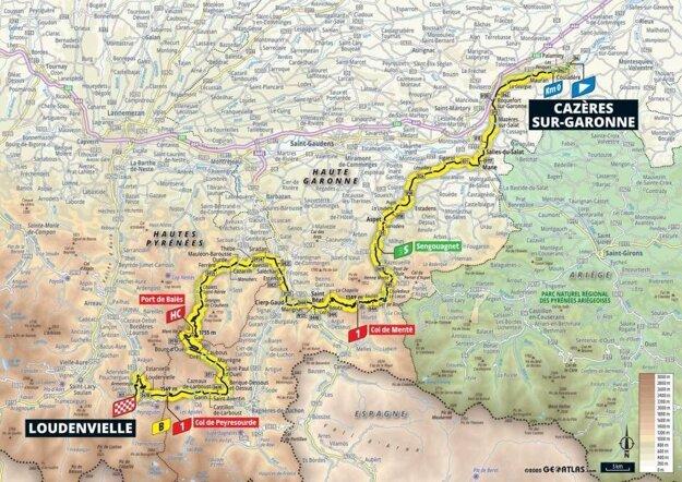 8. etapa na Tour de France 2020 - mapa.