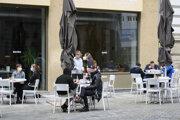 Kaviareň v Bratislave.