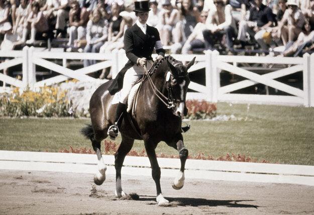 Princezná Anna na letných olympijských hrách 1976.