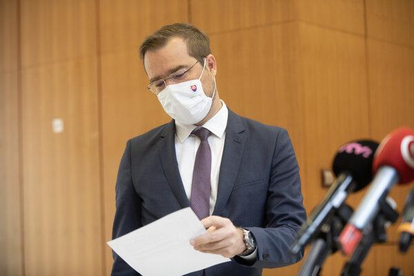 Minister zdravotníctva Marek Krajčí (OĽaNO)