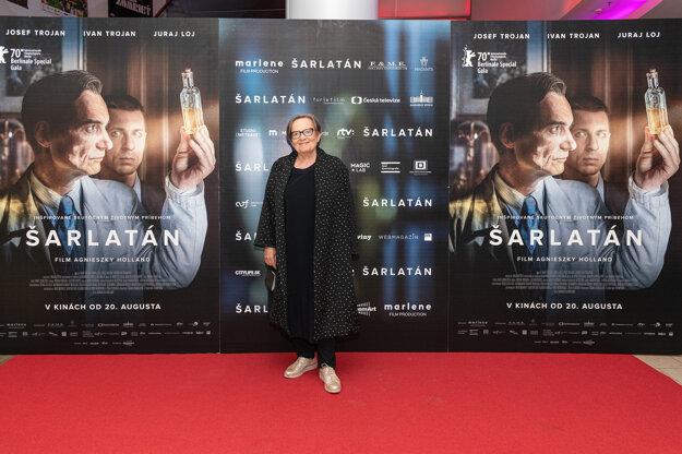 Agnieszka Holland v Bratislave na kinopremiére filmu Šarlatán. Na uvedenie do kín sa čakalo od marca.