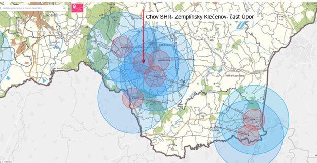 Aktualizované trojkilometrové a desaťkilometrové pásma a zaradenie obcí do pásiem
