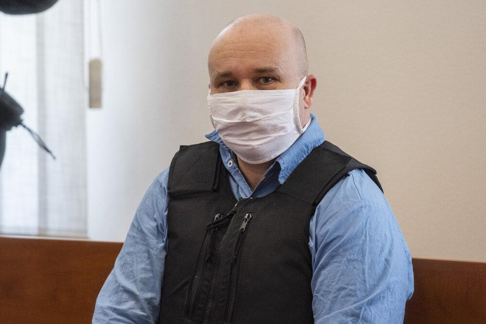 20. júl 2020. Odsúdený Zoltán Andruskó počas hlavného pojednávania v kauze vraždy Jána Kuciaka a Martiny Kušnírovej.