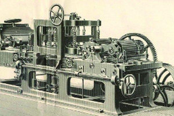 Prístroje na výrobu produktov z dreva boli v parketárni na tú dobu hypermoderné.