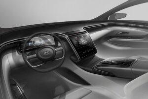 Skica interiéru nového Hyundaiu Tucson.