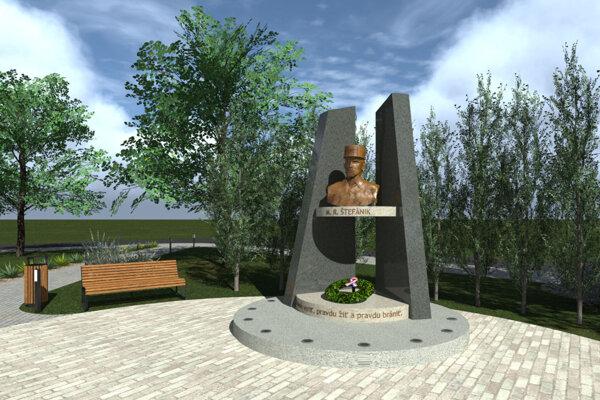 Vizualizácia pamätníka.