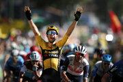 Wout van Aert vyhráva 7. etapu na Tour de France 2020.