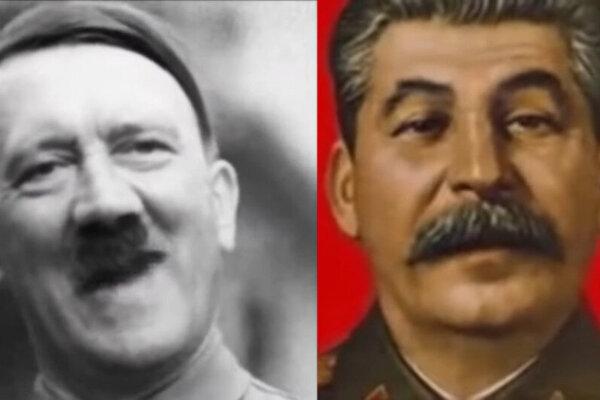 Hitler a Stalin vo virálnom videu.