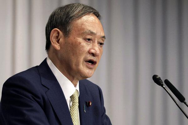 Jošihide Suga, hlavný tajomník japonskej vlády.
