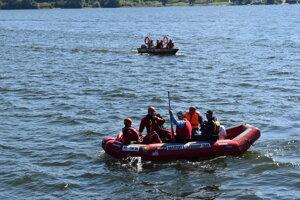 Záchranársky čln na Domaši.