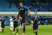 Dávid Strelec v zápase Slovensko - Švajčiarsko.