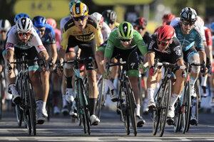 Peter Sagan (vľavo) skončil na 2. mieste.
