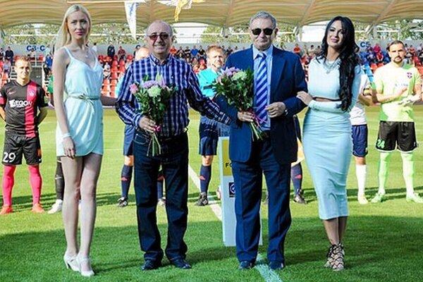 Zlatomoravskí futbaloví mecenáši Viliam Ondrejka a Dušan Durič.