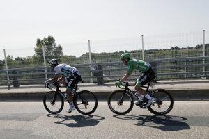 Peter Sagan a Sam Bennett počas 15. etapy.