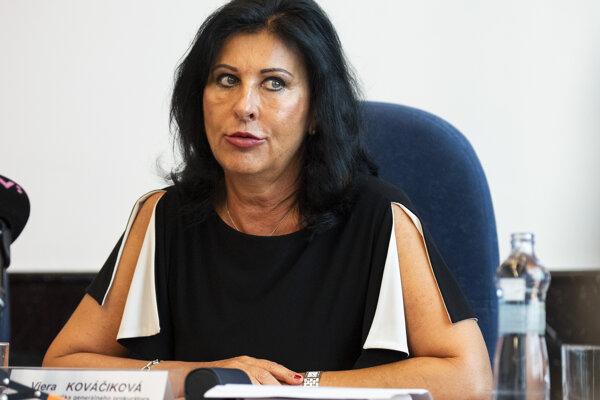 Prvá námestníčka generálneho prokurátora SR Viera Kováčiková.