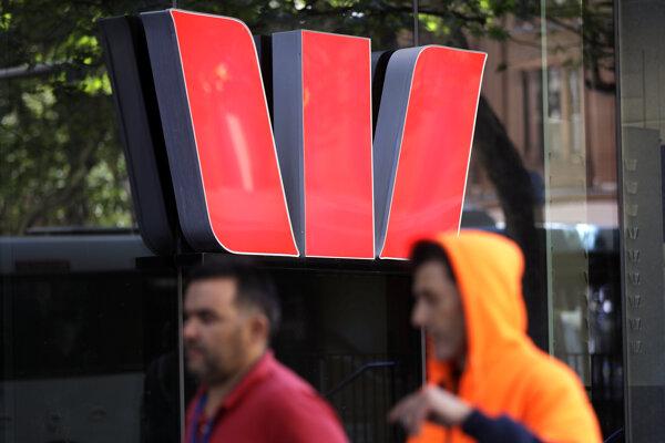 Logo austrálskej banky Westpac.
