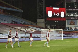 Momentka zo zápasu Aston Villa - Liverpool FC.