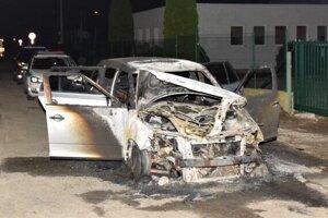 Škoda Fabia zhorela v priebehu niekoľkých minút.
