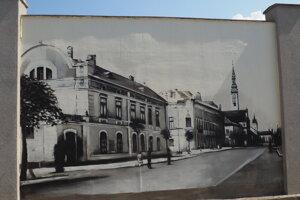 Maľba budovy ateliéru Divalda, ktorá stála na mieste dnešného Novumu ešte pred Priorom.