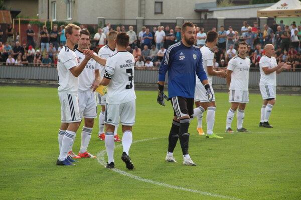 Námestovskí hráči pracovali v druhom polčase ako jedno mužstvo.