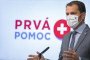 Premiér Matovič (OĽaNO) počas tlačovej konferencie ku kompenzačných schémam.