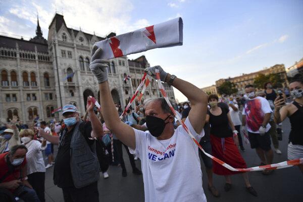 Maďarskí študenti ostro protestovali začiatkom septembra.