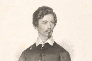 Petöfy Sándor, rytina z 19. storočia.