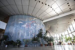 Interiér ubytovne Hviezda, ktorá je známa pod menom Kukurica.