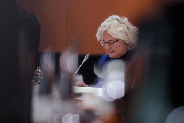 Ministerka spravodlivosti Christine Lambrechtová.