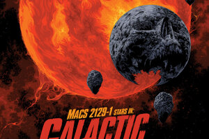 Galaxia MACS 2129-1 prestala tvoriť hviezdy iba pár miliárd rokov po Veľkom tresku. Dnes je z nej kozmický cintorín, ktorý ožarujú na červeno staré umierajúce hviezdy.