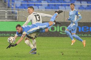 Momentka zo zápasu Slovan Bratislava - Nitra.